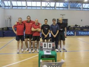 campionato 8-2-2014 le squadre del TT. Biella e del TT. Novara di D1