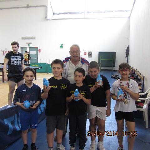 Campionati prov.li FITeT 2014 premiazione giovanissimi