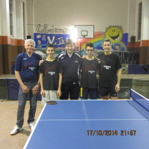 2^ giorn camp a sq 12-10-2014 la squadra di D2 del TT. Novara