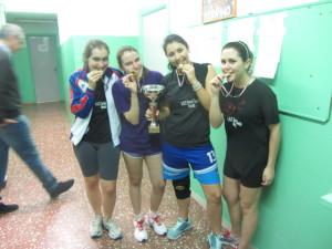 Camp reg giov squadre -Torino 10-3-2013 la ragazze provano le medaglie