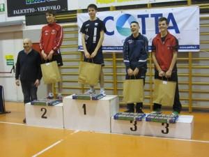 Verzuolo 23-2-14 premiazione singolo maschile juniores