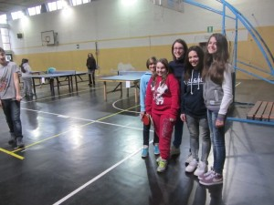 tennistavolo alla Pier Lombardo - 2^C femmine 8-2-2014