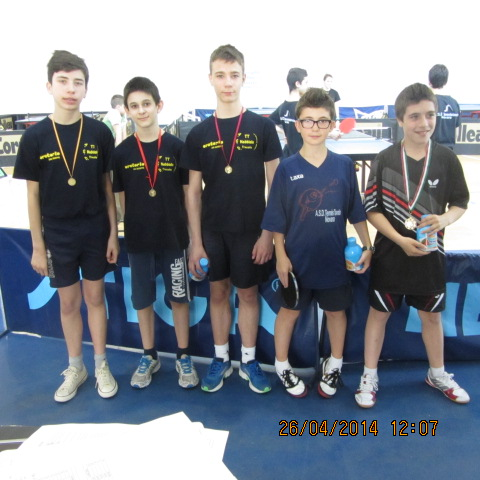 Campionati prov.li FITeT 2014 premiazione ragazzi