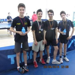 Campionati prov.li FITeT 2014premiazione allievi