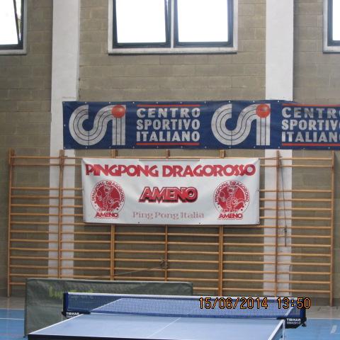 2^ Torneo La Zattera- Omegna - Gozzano striscioni CSI e Drago Rosso