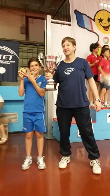 Andrea Giulia Ricupito con Illi e le medaglie vinte al PPK 2014 -finali nazionali