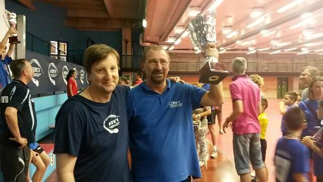 i due allenatori Janos Illi - Novara e Adrian Panaite - Biella al PPK Nazionale 2014