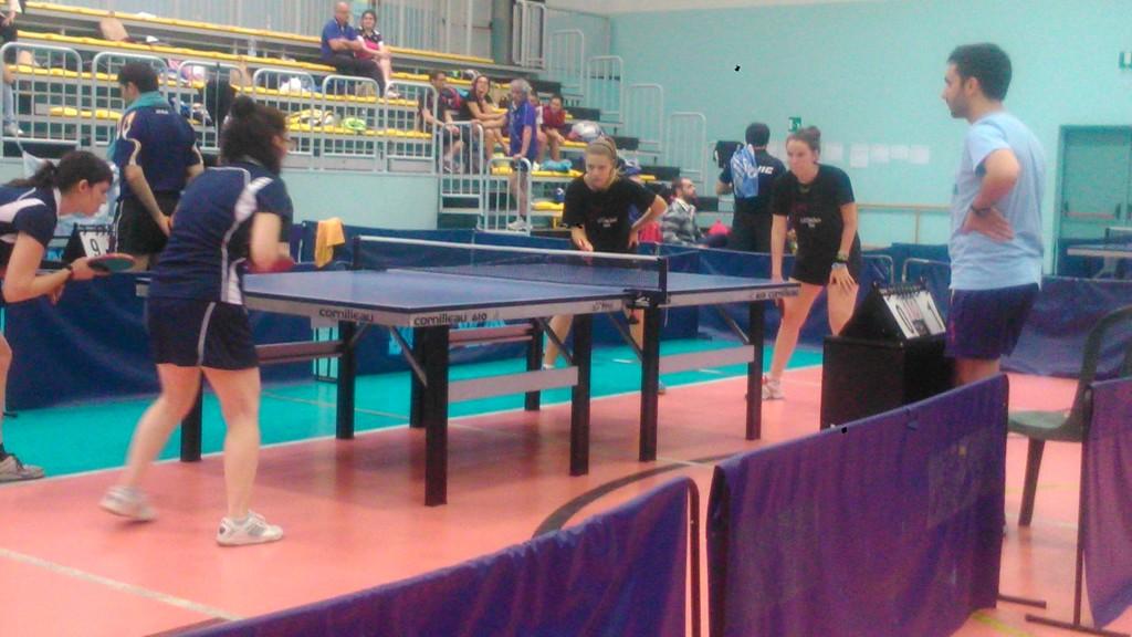 un momento della semifinale del doppio femminile