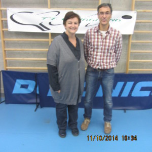 1^ giorn camp a sq 12-10-2014 Sindaco (Sig.ra Cristina) ed Assess. allo Sport (Paracchini) del Comune di Romagnano