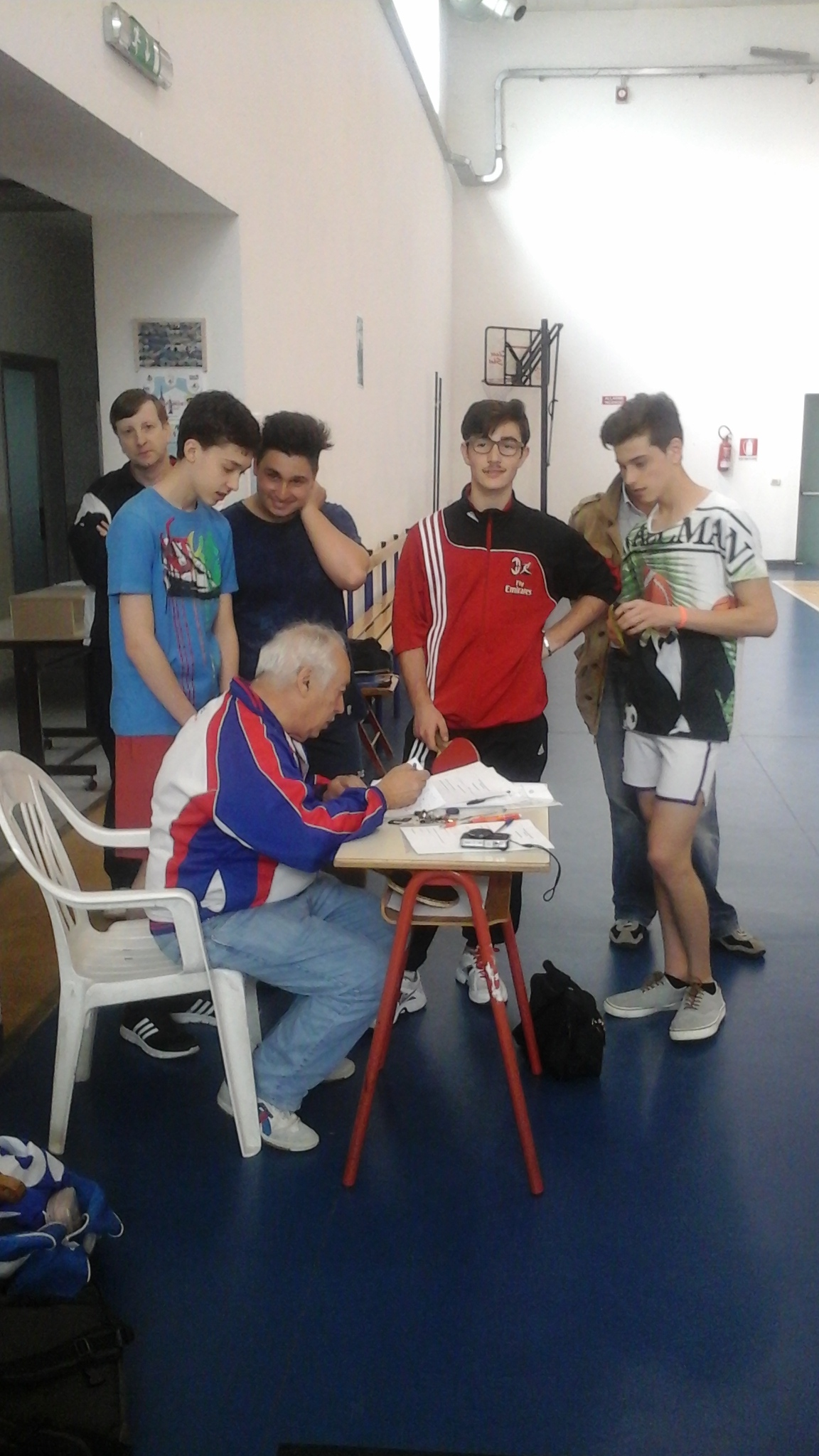 tavolo della giuria con De Cerce e Janos