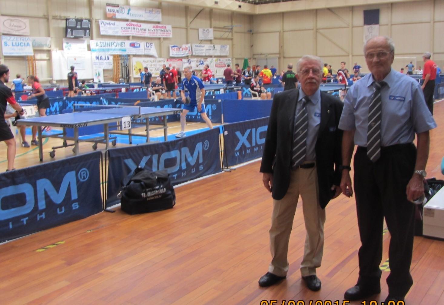 Torneo Lib Mortara - gli arbitri - a destra l'arbitro internazionale Ang_