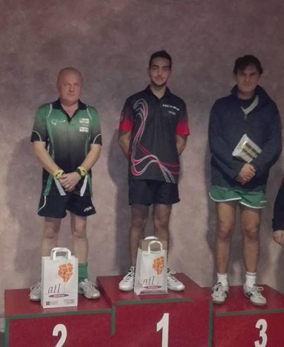 Il podio al Memorial Segantin di Biella- Marco Lucchini a destra Maurizio Rondi e a sinistra Edoardo Roggeri