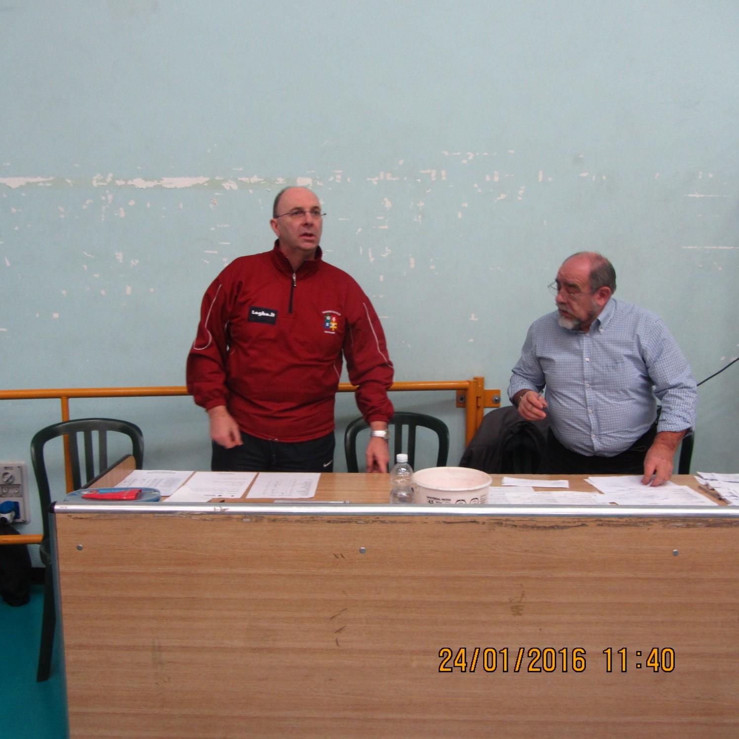 grpx 3^ prova Moncalieri 24-01-16 la giuria con l'arbitro Bruno Miglio e il presidente _